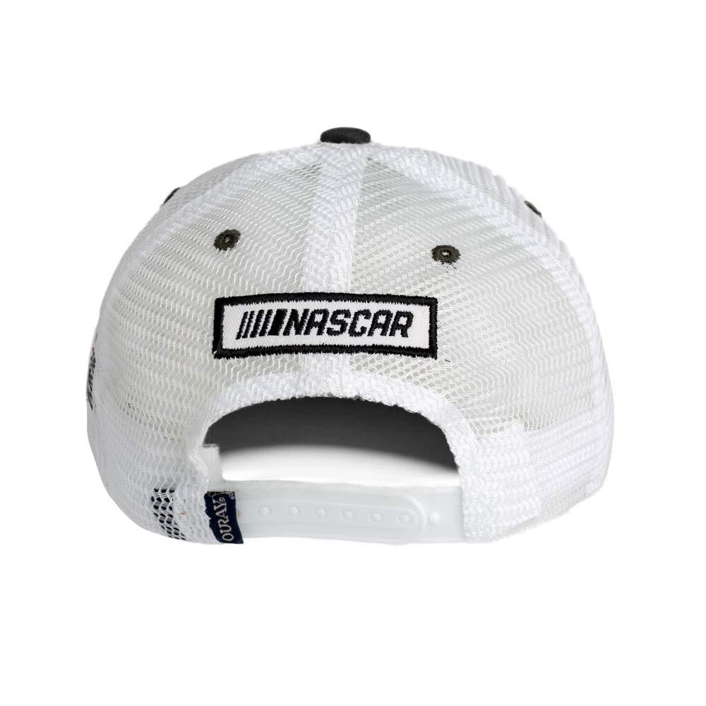 Adjustable Dark Grey//White NASCAR Joe Gibbs Racing 51254-DG//WH-Adjustable-Busch Youth Sideline Mesh Cap