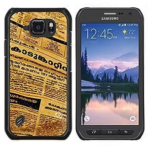 LECELL--Funda protectora / Cubierta / Piel For Samsung Galaxy S6Active Active G890A -- Periódico de la lengua tailandesa Cartas Arte del texto --