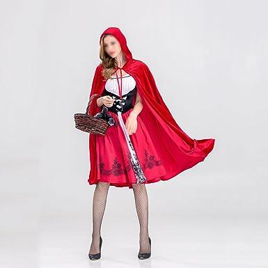 FENICAL Disfraz de Halloween Camper Caperucita Roja para Mujer de ...