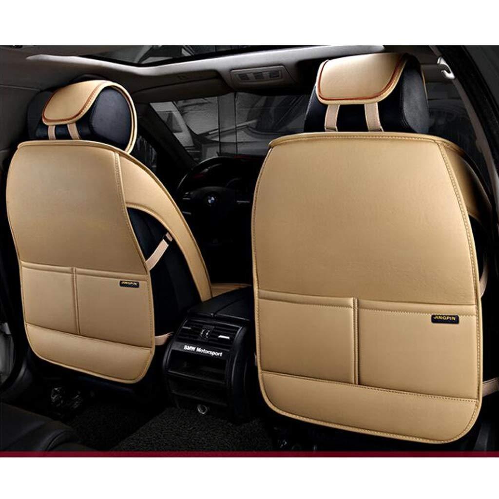 Luxus Leder Universal Autositzbez/üge Vollst/ändiger Satz zum Vordersitze und R/ückbank 5 Sitze Farbe : Beige ADHW Sitzbez/üge-Set