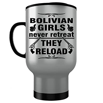 BOLIVIA BOLIVIAN Travel Mug - Good Gifts for Girls - Unique Coffee Cup - Never Retreat
