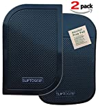 SlipToGrip Premium Cell Pads TWIN PACK - Two Universal Cell Pads and Alcohol Pad. Sticky Anti-Slip GEL Pads - Holds Cell Phones, Sunglasses, Coins, Golf Cart, Boating, Speakers.