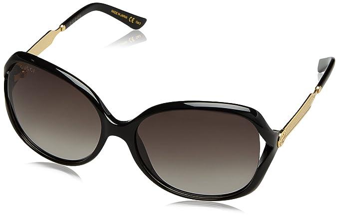 Gucci GG0076S Gafas de Sol, Black, 60 para Mujer: Amazon.es ...