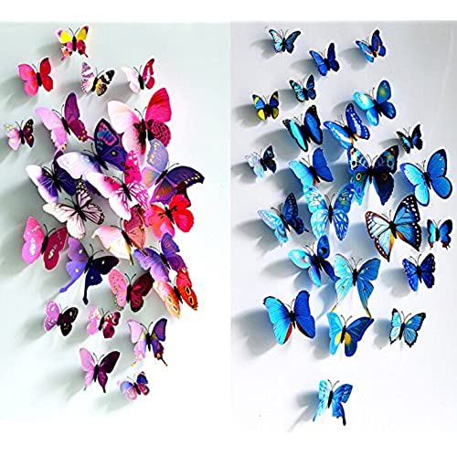 ... 3D Butterfly Stickers Home Decoration DIY Removable Vivid Man Made  Lively DIY Decor Wall Stickers For Wall Decor Home Decor Wall Art Kids Room  Bedroom ...