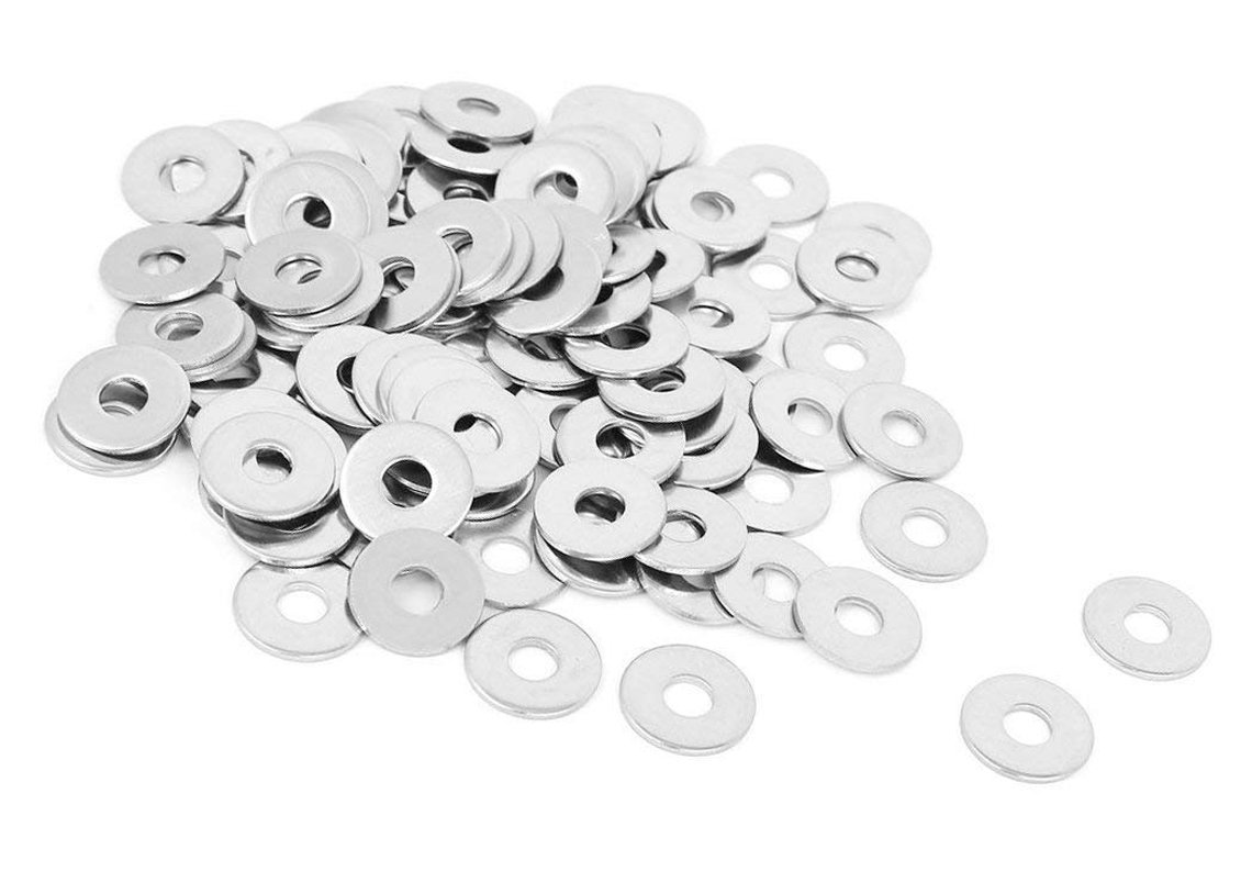 ZXHAO Stainless Steel Round Flat Washer for Bolt Screw Round Plain Washer M8x24mmx2mm 30 Pcs