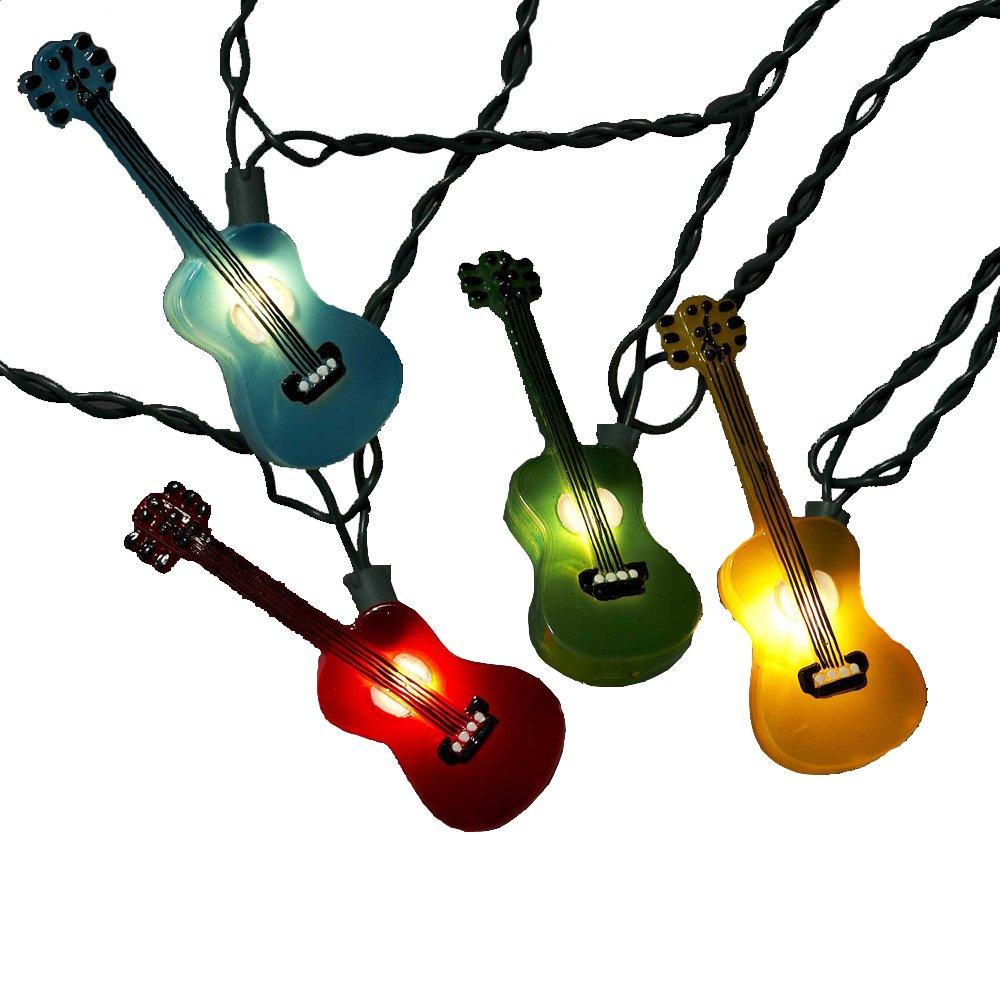 Kurt Adler UL1855 Multi Colored Guitar Light Set 10 Light