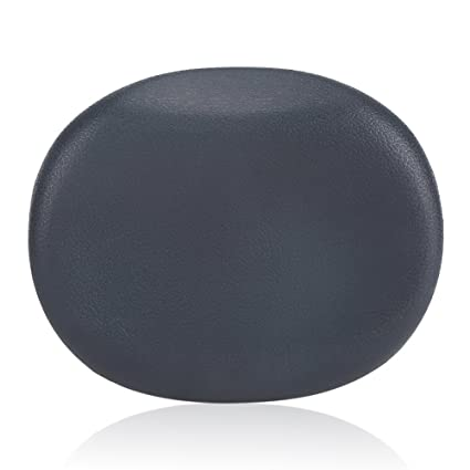 Zerone 1Pc Bath Pillow Bathtub Spa Head Rest Foam Comfort Cushion for Supporting Neck and Back, Dark Gray