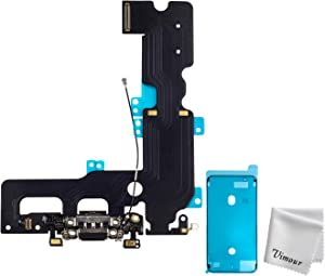 Vimour OEM Original Charging Port USB Dock Flex Cable with Microphone and Signal Antenna Replacement for iPhone 7 Plus 5.5 Inches (Black)