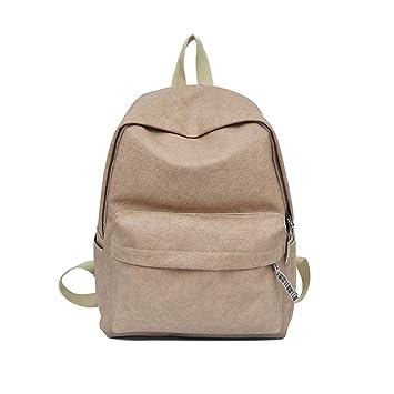Tiadi Bolsa De Viaje Dama Pequeña Moda Mochilas Cuero Casual Mochila Diaria Mujer Waterproof Mochila De Viaje Multifuncional Vintage Backpack: Amazon.es: ...