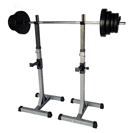 Uni Best Soporte para mancuernas, par de pesas langhantelablage Pro701 con pesas 60 kg