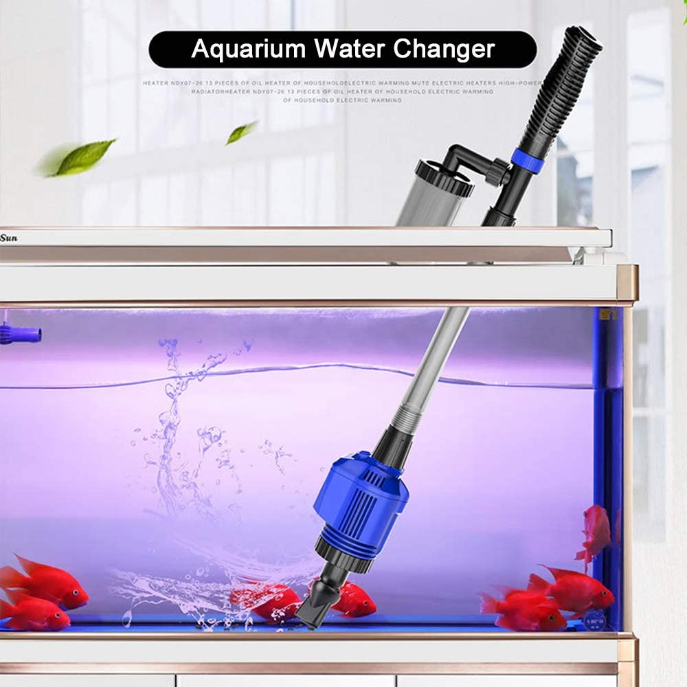 KKmoon Aquarium Gravel Cleaner Efficient Electric Automatic Vacuum Water Changer Flexible Fish Tank Sand Algae Cleaner Water Filter Pump Syphon Cleaning Tool