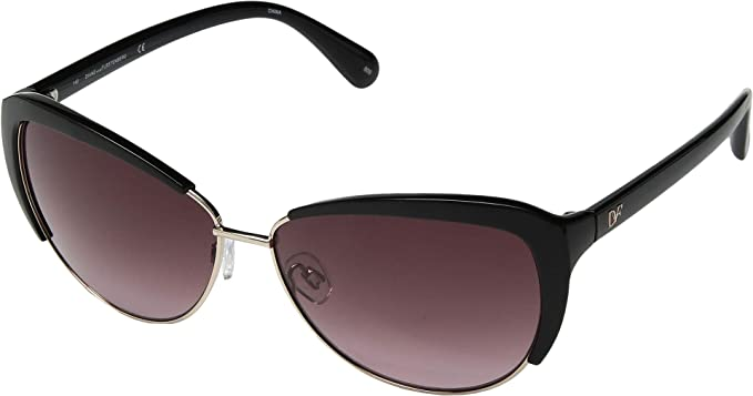 3e1bcc368 Amazon.com: Diane von Furstenberg Women's DVF836SL Black One Size ...