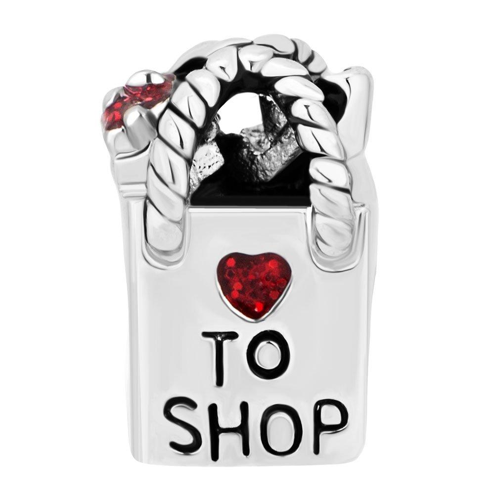 Charmed Craft Women Girl's Shopping Bag Charm Love to Shop Bead for Bracelets pandöra charms DPC_MY735_X10