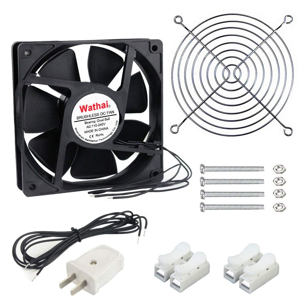 Wathai EC 120mm x 25mm Ball DIY Cooling Ventilation Exhaust Fan 110V 115V 120V 220V 240V AC Axial Case Fan
