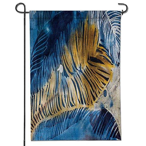 AmaPark Outdoor Double Sided Garden Flag,feathers hot batik background texture handmade on silk abstract surrealism art Seasonal Outdoor Flag 12
