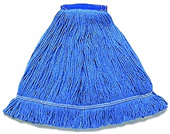 "Wilen A01211, Hospital Pro M Antimicrobial Wet Mop, Small, 1-1/4"" Tape Band, Blue (Case of 12)"