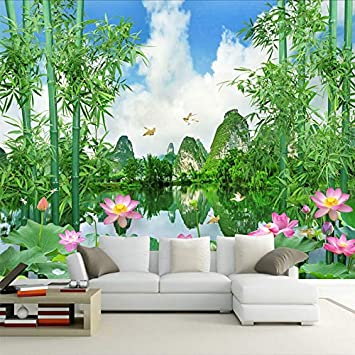 Amazhen Custom Photo Wallpaper 3d Bamboo Forest Nature Landscape