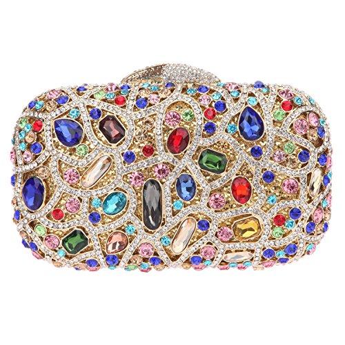 (Fawziya Bling Luxury Clutch Purse Handbags Womens Evening Bags-Multicolor)