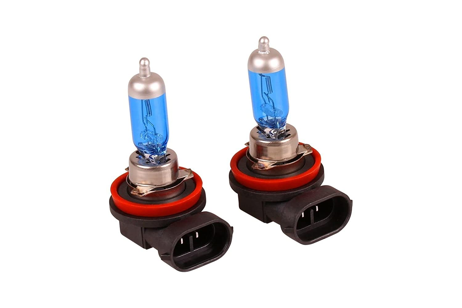 H8 5000K 35W Fog Spot Light Halogen Bulbs Xenon HID Super White Look Effect