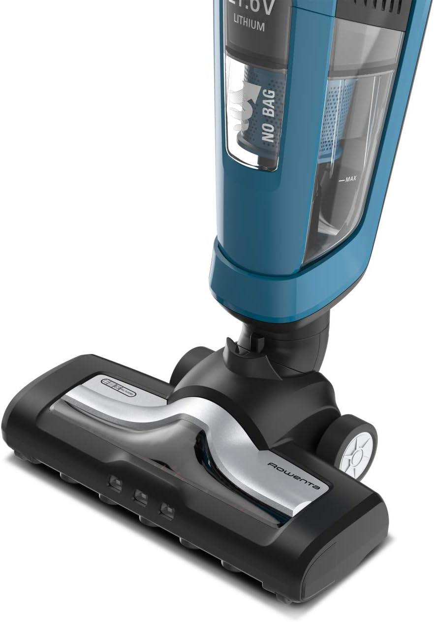 Rowenta Dual Force RH6751W0 - Aspiradora 2 en 1 de mano y escoba eléctrica, cepillo motorizado con luces LED, batería 21.6 V, autonomía 45 min, sin cable, ligera y plegable, sin bolsa: Amazon.es: Hogar