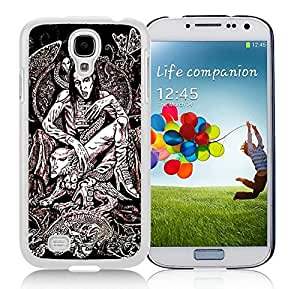 High Quality S4 Case,Marilyn Manson 02 White Samsung Galaxy S4 I9500 Screen Phone Case Beautiful and Charming Design