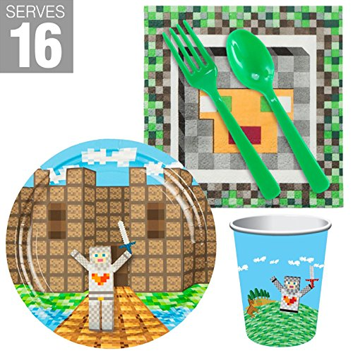 BirthdayExpress Medieval Pixels Party Supplies Snack Pack For (Medieval Times Invitations)