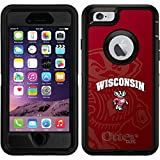 OtterBox Apple iPhone 6/6s Black Defender Case with University of Wisconsin Watermark, Full-Color Design
