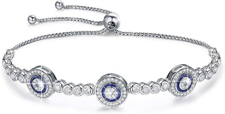 bracelet argent bleu