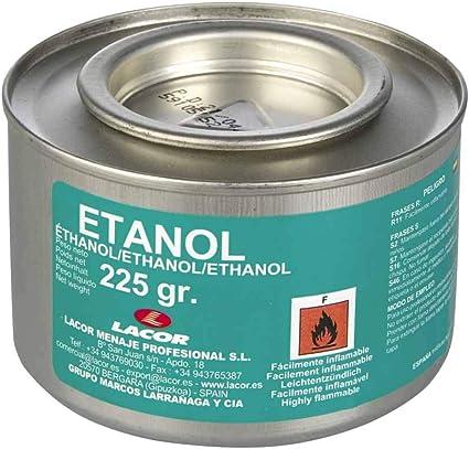 Lacor 69108 - Lata de Gel Combustible Ethanol 225 gr