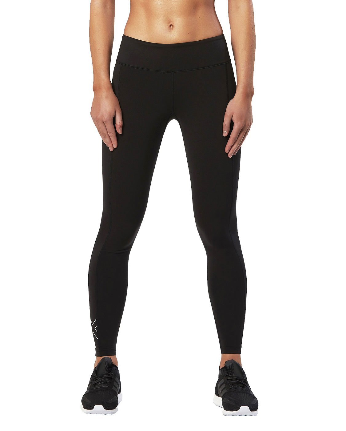 2XU Women's Active Compression Tights, Black/Silver, Large by 2XU (Image #2)