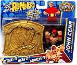 WWE Wrestling Rumblers Exclusive John Cena with WWE Championship Playcase by Mattel