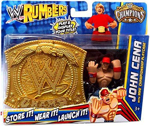 WWE Wrestling Rumblers Exclusive John Cena with WWE Championship Playcase by Mattel by Mattel