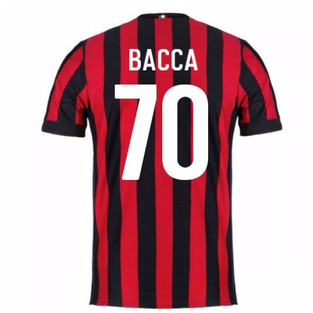 2017-2018 AC Milan Home Football Soccer T-Shirt Trikot (Carlos Bacca 70) - Kids