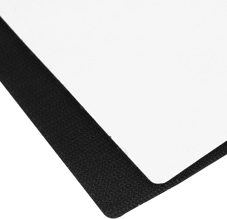 Adhesivo para placa de matr/ícula pegatinas de fijaci/ón de placa de matr/ícula gancho y bucle de la correa Gancho y cierre de bucle Poli/éster para soportes de coche Carteles