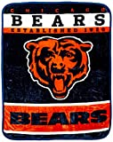chicago bears stuff - The Northwest Company Officially Licensed NFL Chicago Bears 12th Man Plush Raschel Throw Blanket, 60