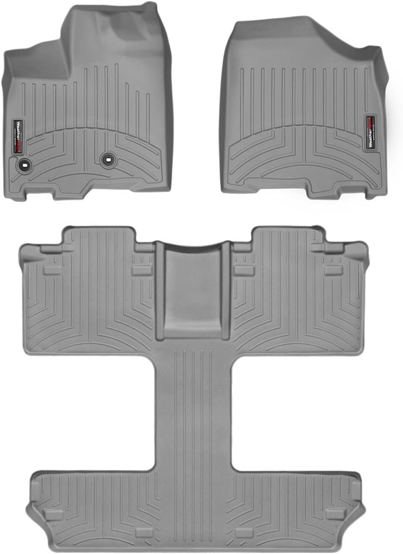 Black WeatherTech FloorLiner for Dodge Grand Caravan w//Bench Seat 2013-2019