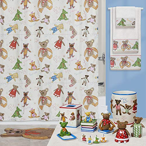 DS BATH Little Friends Shower Curtain,Polyester Fabric Bath Curtain,Shower Curtains for Bathroom,Print Bathroom Curtains,Waterproof Shower Curtain,72