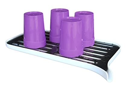 Honla Plastic Dish Drainer Rack And Drain Board With Spout,Small Dish  Drying Rack And