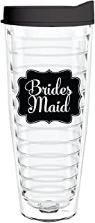 product image for Smile Drinkware USA- Bridal Party-Bachelorette Party Plastic Tumblers With Straw-Bridesmaid 26 Ounce Double-Wall Insulated For Bridal Wedding Party Favors and Gifts For Bride And Groom
