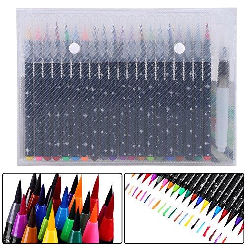 買取水彩毛筆 水性筆 カラーペン 水彩 水性ペン 絵の具 塗り絵 画筆 絵