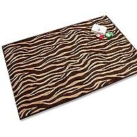 LKEY Microfiber Zebra Brown Two Size 39x59, 59x78 Non-slip Area Rug Carpet (39x59 inch)
