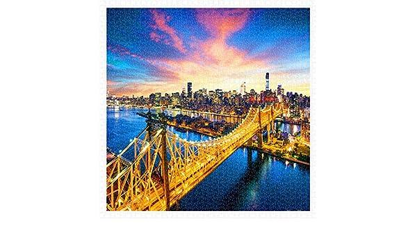 New York H1786 Pintoo 1600 Piece Plastic Puzzle Manhattan with Queensboro Bridge