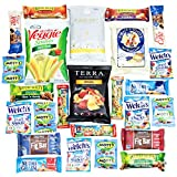 CollegeBox - Healthy College Care Package - Granola bars, fruits snacks, popcorn, veggie chips, and more! Variety Assortment Bundle (25 Count)