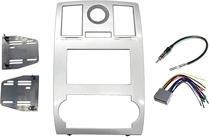 American Terminal AT99-6516B Fits Compatible with 2005-07 Chrysler 300 Double DIN Stereo Harness Radio Dash Kit