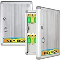 RONTENO Strong Water Resistant Aluminum Key Hanger Box Letter Box Size Suggestion Box Size H_1032 Multiple 32 Key Hanger Residences, Hotels - 1 Pc (32 Key Hooks)(Silver Color)