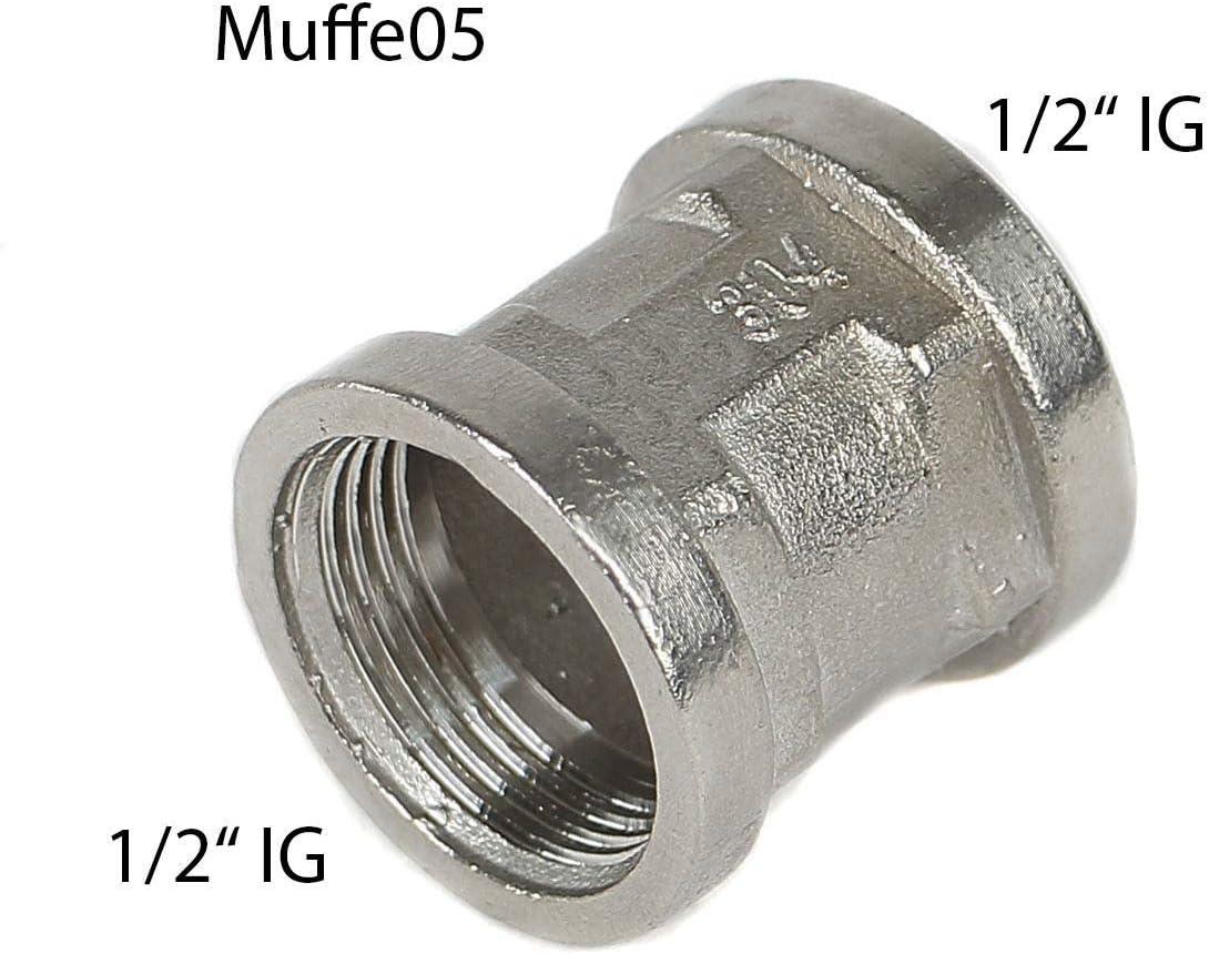 1 KI espigas de soldar entronque Niple para soldar de acero inoxidable V4A Conexi/ón roscada.