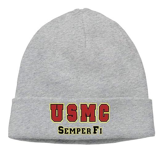 DluHi U S Marine Corps Semper Fi Beanie Hat Knit Cap Winter Unisex Skully  Hat 96a0454ce8b