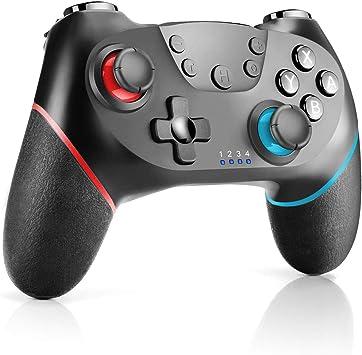 CHEREEKI Controlador para Nintendo Switch, Mando Nintendo Switch con Bluetooth/Gyro Axis/Turbo/Dual Shock Mando Inalámbrico Compatible con Nintendo Switch/Lite (Negro): Amazon.es: Electrónica