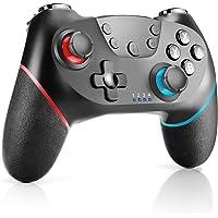 CHEREEKI Kontroll för Nintendo Switch, trådlös kontroll för omkopplare med dubbla turbo vibrationsstöd gyro axelfunktion