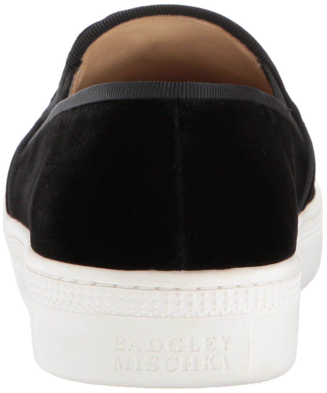 Badgley Mischka Women's Barre Sneaker B01N5XVPFW 7 B(M) US Black Velvet